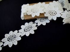 2 Yards of 1 7/8 Wide Cream Venice Cotton Lace by FabricBistro