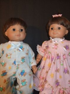 """Doll Clothes for Bitty Twin dolls {matching boy & girl}  {15"""" dolls}"""