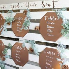 Diy Wood Palette Wedding Seating Chart with regard to Diy Seating Chart Reception Seating, Seating Plan Wedding, Wedding Table, Wedding Reception, Table Seating Chart, Seating Chart Template, Pallet Seating, Seating Plans, Copper Wedding
