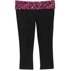 Danskin Now - Women's Plus-Size Foldover Waist Fashion Yoga Capri ...