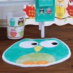 Cute owl bathroom set @Lauren Davison this reminded me of you!! :)