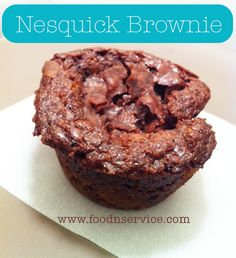 Amazing Nesquick Brownie Recipe. I love brownies and came up with the most perfect brownie dessert recipe using Nesquick instant chocolate milk mix. This is one you're going to want to use and try!