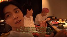 taeyong wondering why doyoung had been so nice to him and doyoung responds with some very lovely words. Nct Taeyong, Funny Kpop Memes, Bts Memes, Kdrama, Jimin, Punch In The Face, Na Jaemin, Soyeon, Kpop Groups