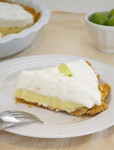 key lime pie with meringue whipped cream