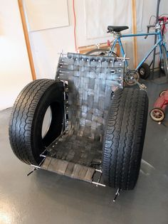 upcycled tires innertubes couch / tomtinc http://www.blog.designsquish.com/index.php?/site/post-apocalyptic_furniture_from_reclaimed_materials_bushwick_open_studios/