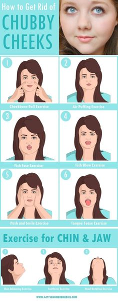 How to Get Rid of Chubby Cheeks & Lose Facial Fat [INFOGRAPHIC] #Cheeks #Fat #Chubby #Face #Infographics #FacialFat