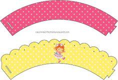 Kit Festa Moranguinho Baby Para Imprimir Grátis cupcake holders Strawberry Shortcake