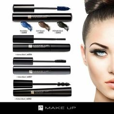 Choose from 4 different mascaras Fm Cosmetics, Marketing Logo, World Images, Make Up Collection, Fragrance, Face, Beauty, Advertising Ideas, Moldova