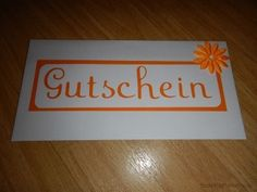 Umschlag Gutschein