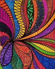 Colorit Wild Doodles Colorist: Tammy Craig #adultcoloringpages #coloringpages #adultcoloringbook #doodles