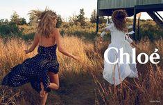 Julia Stegner and Lou Doillon fotograferat av Inez & Vinoodh. Chloé spring/summer 2014.
