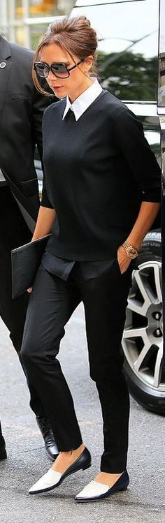 New How To Wear Black Pants Work Outfits Victoria Beckham Ideas Fashion Mode, Office Fashion, Work Fashion, Womens Fashion, Fashion Black, College Fashion, Curvy Fashion, Fall Fashion, Fashion Ideas
