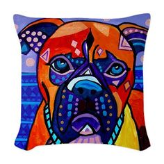 35% OFF Boxer Art Pillow Dog Modern door HeatherGallerArt