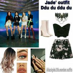 Blackpink Fashion, Kpop Fashion Outfits, Stage Outfits, Edgy Outfits, Retro Outfits, Classy Outfits, Cute Outfits, Korean Outfits Kpop, Burgundy Homecoming Dresses