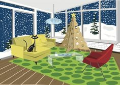Retro Cat Christmas Modern Tree - Boxed Holiday Christmas Greeting Cards - Set of 10 Cards and Envelopes Retro Ice Box Greetings,http://www.amazon.com/dp/B00DBF4TJY/ref=cm_sw_r_pi_dp_SyJGsb1E8GR3X648