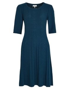 Cable knit wool blend dress from M&S