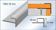 aluminium stair nose for laminate