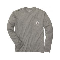 Take the Field Long Sleeve Tee in Grey by Southern Proper ($35) ❤ liked on Polyvore