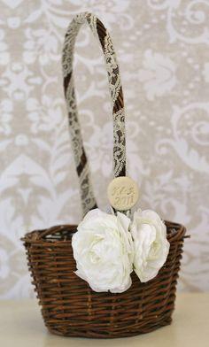 easy personalized flower girl basket