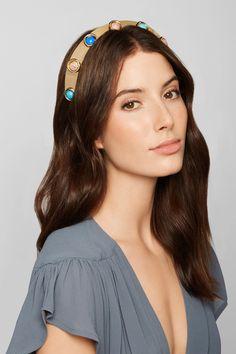 0303fcd5b5 LELET NY - Oculous gold-plated multi-stone headband