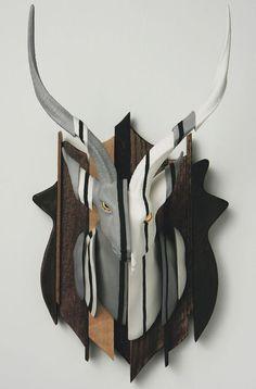 Wookjae Maeng: Adaptation-Kudu, 2012, porcelain, wood