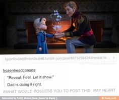 This is why I think Jack and Rapunzel would've been better parents for Anna and Elsa. They both know what it's like to live in isolation. They would encourage Elsa to see her powers as a gift and not a curse. Jack could teach her how to control it better. He could also be there for Anna when she's lonely. And we all know Punzie would be an awesome mom! Idk it just makes sense to me...