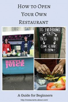 Everything you need to open your own restaurant! Including business plans, menu tips, and choosing the right location.