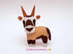Felt ORYX stuffed felt Oryx magnet or ornament Oryx toy