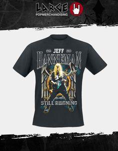"""Nieuw in ons assortiment """"Slayer Jeff Hanneman 1964-2013 Tribute"""" T-Shirt.  Verkrijgbaar vanaf 12 juli, maar je kunt het shirt nu alvast vooruitbestellen."""