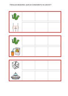 Fitxes per treballar la consciència fonològica Catalan Language, Valencia, Map, School, Speech Language Therapy, Initials, Note Cards, Location Map, Peta