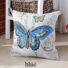 blue-butterfly-decorative-pillows-couch-pastoral-style-sofa-cushions-cheap7988.jpg (600×600)
