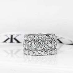 Diamond eternity rings #bykalfinjewellery #diamondjewellery #diamondrings #custommade #collinsst #engagementrings #diamondringsmelbourne #engagementringsmelbourne #solitaire #bestdiamonds #bestjeweller #weddingrings #gentsring #melbournejeweller  #cbdjewellers #melbourne #diamond  www.kalfin.com.au