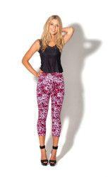 Black Milk Peggy Bundy Pink 7/8s Leggings MUSEUM PIECE #peggy_bundy #leggings