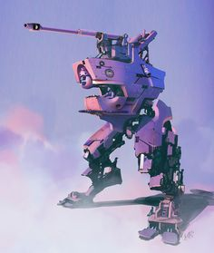 Robot concept art by Takumer Homma