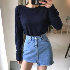Buy chuu Cutout Distressed Denim A-Line Miniskirt | YesStyle