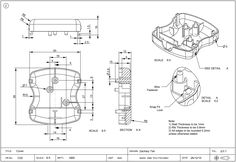 manufacturing engineer technical drawing - Google Search