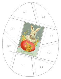 If you celebrate the season, here's an egg-shaped crazy quilt block featuring one of my favorite postcards from my personal collection. ...