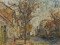poboh:  Landscape, 1966, Włodzimierz Zakrzewski. Polish (1916 - 1992)