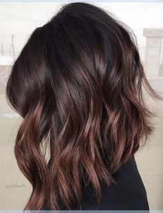 Cherry Chocolate Brunette Balayage Hair Color Ideas for Black Praise Hairstyles . - Cherry Chocolate Brunette Balayage Hair Color Ideas for Black Praise Hairstyles – - Balayage Lob, Brunette Balayage Hair Short, Black Balayage, Short Balayage, Brunette Ombre, Short Hair Brown Ombre, Balyage For Dark Hair, Hair Color Brunette, Brown Balayage Bob