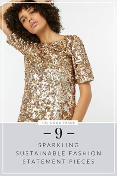 Ethical Edit: 9 Sparkling Sustainable Fashion Statement Pieces For The Holidays - Women's style: Patterns of sustainability Fair Trade Clothing, Fair Trade Fashion, Fast Fashion, Slow Fashion, Fashion Outfits, Ethical Fashion Brands, Ethical Clothing, Sustainable Clothing, Sustainable Fashion