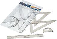 ESTUCHE ESCOLAR.Regla, escuadra y cartabón de 30cm. y semicírculo de 15cm. #EstucheEscolar #Reglas #Escuadra #Cartabón #Semicírculo