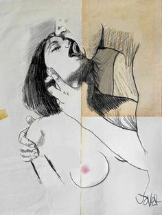 "Saatchi Online Artist Loui Jover; Drawing, ""raw"" #art"