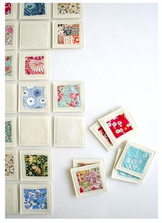 Fabric Memory Game...what a great idea...and a perfect homemade gift!