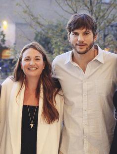 Founder + CEO Chantel Waterbury with her #dynamicduo partner, c+i investor Ashton Kutcher! #lovemyjob #chloeandisabel