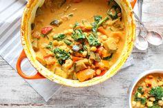 One Pot Auberginen, Kürbis und Kichererbsen Curry - glutenfrei, vegan, ohne raffinierten Zucker - de.heavenlynnhealthy