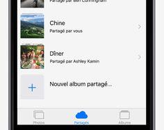 Partager un album photo via iCloud - Conseils et astuces pour iOS9 sur iPhone - Assistance Apple