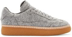 Alexander Wang - Grey Felted Eden Sneakers