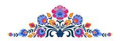 Polish folk papercut style flowers