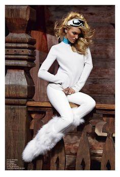 """What I think I look like"" -- ski bunny. reality is...."