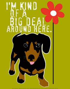 big deal dachshund poster